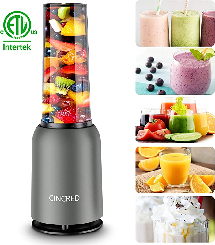 Updated 2019 Version Professional Personal Countertop Blender For Milkshake Fruit Vegetables Drinks Ice Small Mini Portable Single Food Bullet Blenders Processor Shake Mixer Maker With Cup For Home Kitchen 15 Ounce