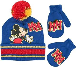ست کلاه و دستکش زمستانی پسران دیزنی ، کودک نو پا میکی موس بافندگی Beanie برای کودکان 2-4 ساله
