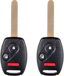 ECCPP Replacement Uncut 313.8MHz Keyless Entry Remote Car Key Fob fit for Honda CR-Z CRV FIT Insight Accord Crosstour MLBHLIK-1T (Pack of 2)