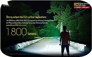 pump-kawayi 1800ルーメン EC23 CREE XHP35 HD E2 LEDバッテリー付き高性能懐中電灯(IMR18650 2500mAh 35A)-White-Black
