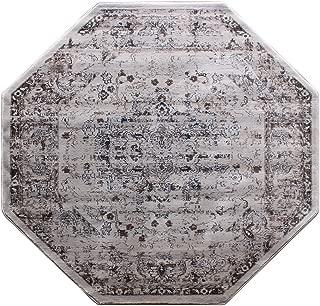 Masada Rugs Oriental Vintage Distressed Area Rug Rafael Collection (7 Feet 3 Inch X 7 Feet 3 Inch Octagon)