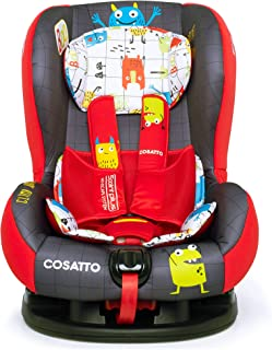 Cosatto Moova 2 Toddler Car Seat | Group 1, 9-18 kg, 9 Months-12 years, Anti-Escape, Forward Facing (Monster Mob)