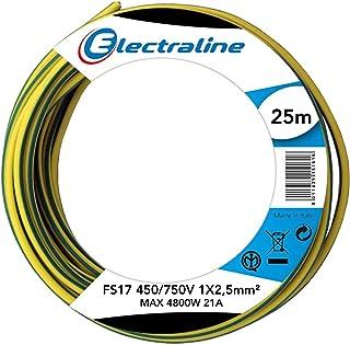Electraline 13172Unipolar Cable Section FS17, 1x 2.5mm², Blue, 25M