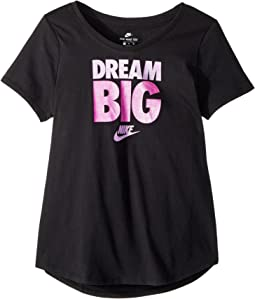 Nike Kids Sportswear Scoop Dream Big Tee (Little Kids/Big Kids)