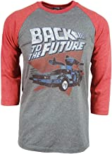 American Classics Back to The Future Red and Blue Adult Soft Raglan T-Shirt