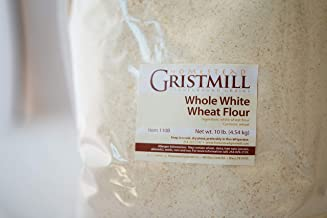 Homestead Gristmill — Non-GMO, Chemical-Free, All-Natural, Stone-ground Whole White Wheat Flour (10 lb), Artisanally Milled from Hard White Wheat Berries