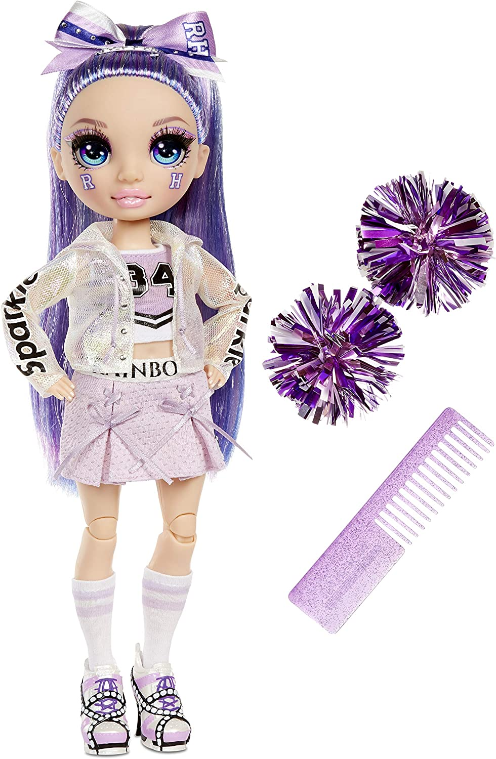 Rainbow High Cheer Violet Willow Fashi Cheerleader – Purple Free shipping New Popular product
