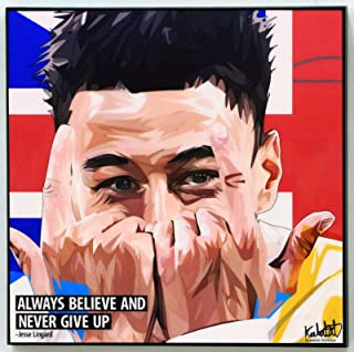 Jesse Lingard Manchester United MU Football Poster Quotes Wall Decals Photo Painting Framed pop Art