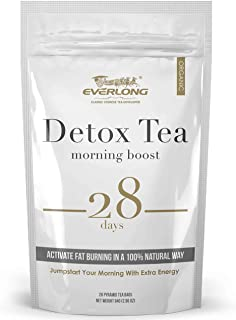 Detox Tea 28 Day Ultimate Teatox - Morning Boost - Burn Fat and Boost Your Energy, Colon Cleanse, Restore Your Body Natural Balance and Accelerate Weight Loss