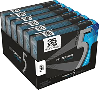 5 Gum Sugarfree Gum, Peppermint Cobalt, 35-stick pack (6 packs total)