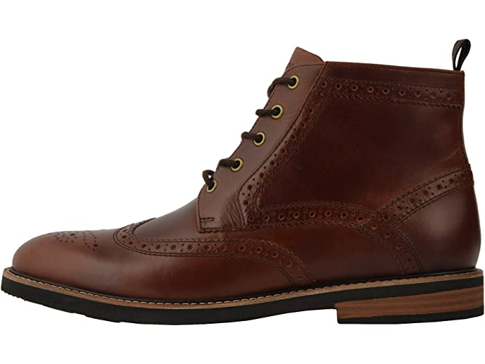 Nunn Bush De Odell Wingtip Boot With Kore Walking Comfort Technology Rust Boots