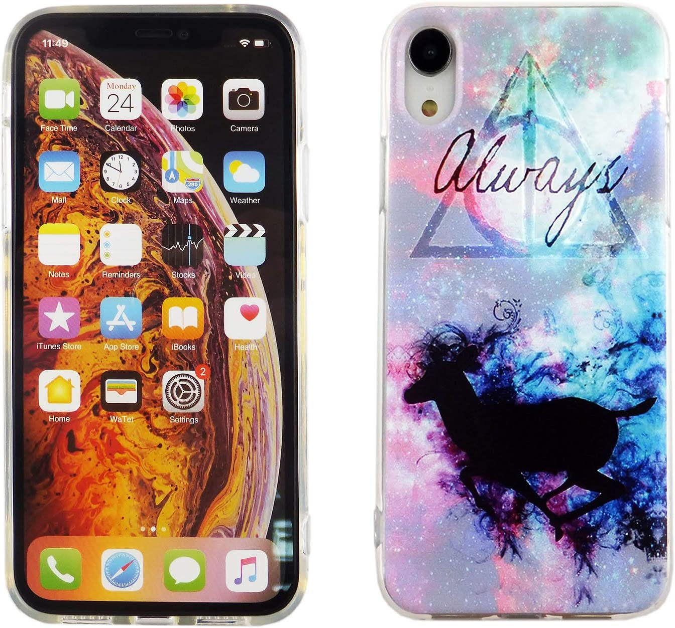 iPhone XR Case Always Deer, IMAGITOUCH Anti-Scratch Shock Proof Case Soft Touch Slim Fit Flexible TPU Case Cover