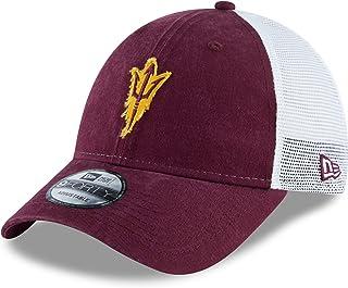 New Era NCAA Arizona State University Sun Devils 9FORTY Snapback Trucker Cap, Adjustable Maroon White Hat