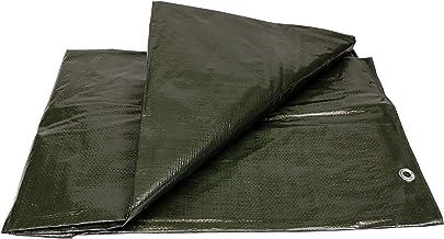 Waterdicht dekzeil voor buiten, 120 g, 2 x 3 m, versterkt met ingestanste ringen van roestvrij staal, voor brandhout en tu...