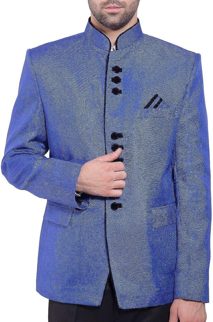 WINTAGE Men's Rayon Nehru Mandarin Blazer- 20 Colors and 15 Sizes