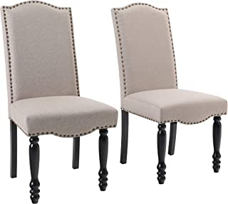 ALPHA HOME Dining Chairs with Tufted Cushion Accent...