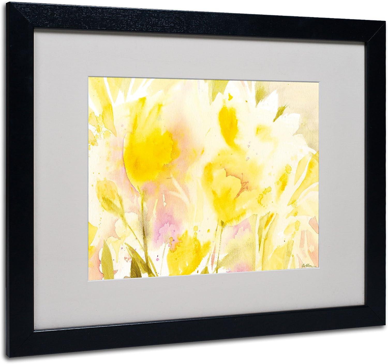 Amazon Com Trademark Fine Art Yellow Gardens Matted Framed Art By Sheila Golden In Black Frame 11 By 14 Inch Framed Original Artwork Wall Art