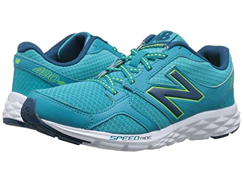 Womens Shoes New Balance W490V3 Sea Glass/Deep Water