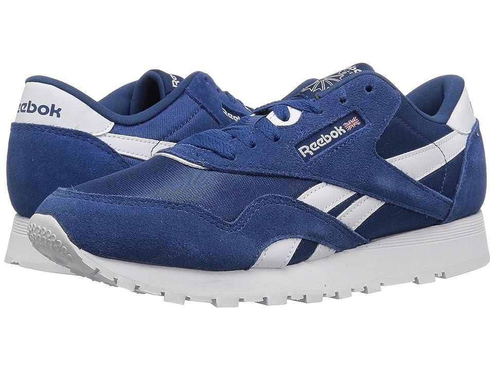 Reebok Kids Classic Nylon (Big Kid) (Bunker Blue/White) Boys Shoes