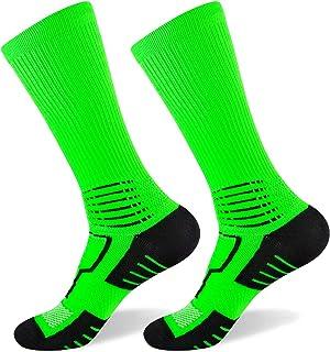 Basketball Socks for Men & Women,Ankle Protection Light Compression Outdoor Sports Crew Socks 8-15 mmHg