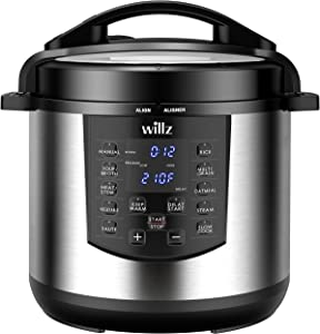 Willz 6-in-1 Multi-Use Programmable Pressure Cooker, Slow Cooker, Rice Cooker, Steamer, Sauté, & Food Warmer, 6 Qt, Stainless Steel