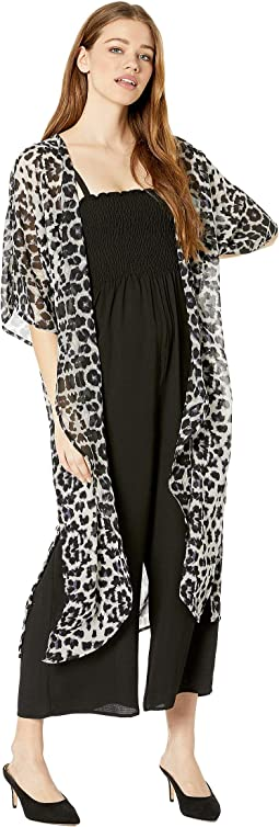 Desert Duster Kimono with Side Slits & Pocket