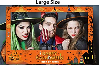 Large Size Halloween Photo Frame Party Decorations - Trick or Treat Booth Props Decor Supplies(Assembly Needed)