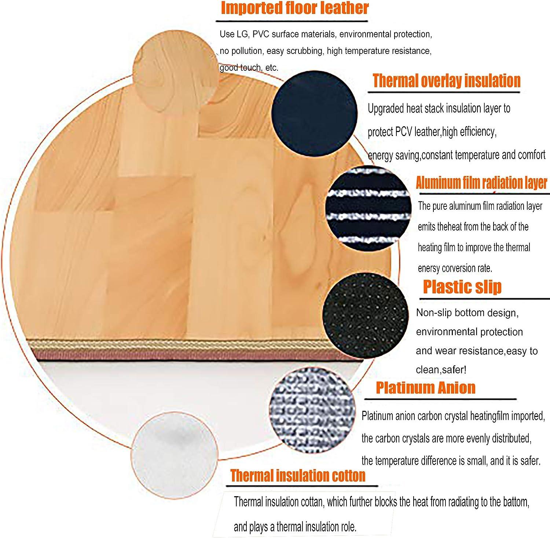 Infrarot Bodenmatte,bis 60 /°C ,Kann angepasst werden,energiesparend,Heizmatte pflegeleicht und rutschfest,Zuhause und B/üro Heizmatten