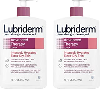 Lubriderm Advanced Therapy Moisturizing Lotion with Vitamins E and B5, Deep Hydration for Extra Dry Skin, Non-Greasy Formula, 16 fl. oz ( Pack of 2)
