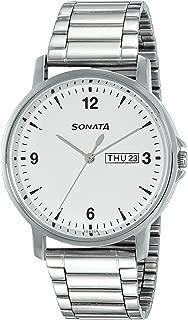 Sonata Essentials Analog White Dial Men's Watch-77083SM01
