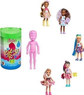 Barbie Color Reveal Chelsea Doll with 6 Surprises: Water Reveals Doll's Look & Creates Color Change on Leotard Graphic