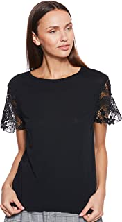 Tommy Hilfiger Women's Ww0Ww22573-Black Blouses