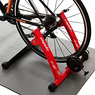 Unisky Bike Trainer Stand Indoor Exercise Magnetic Bicycle Training Stand Stationery Cycling Trainer for Mountain & Road Bike