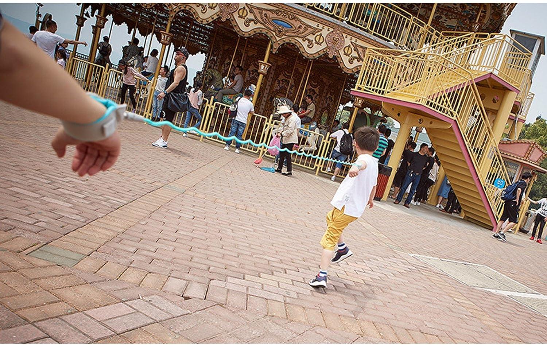 Anti Lost Wrist Link Wristband con cerradura Arn/és ajustable Hand Ring Baby Safe Skin Friendly Al aire libre Toddler Walking Leash Belt 360 Degree Rotate 2.5M Kids Safety Strap Harness Azul