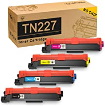 CMYBabee No Chip Compatible Toner Cartridge Replacement for Brother TN227 TN223 TN-227 TN-223 for Brother MFC-L3710CW MFC-L3750CDW MFC-L3770CDW HL-L3210CW HL-L3230CDW HL-L3270CDW HL-L3290CDW - 4 Pack