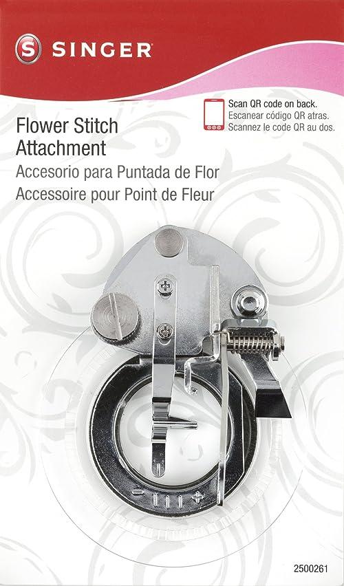 SINGER Flower Stitch Presser Foot Attachment for Low-Shank Sewing Machines