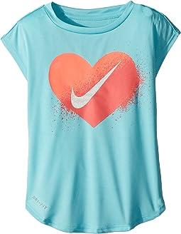 Nike Kids Spray Heart Dri-FIT Modern Tee (Toddler)