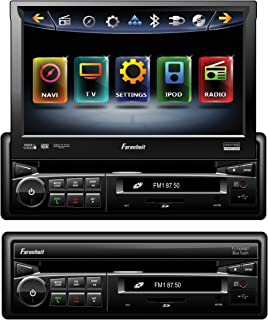 Farenheit TI-740NB Inteq Single DIN Multimeadia Indash Source with 7-Inch Flip Up Screen