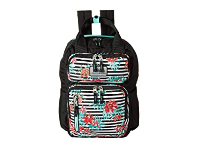 High Sierra Mindie Backpack (Tropical Stripe/Black/Aquamarine) Backpack Bags