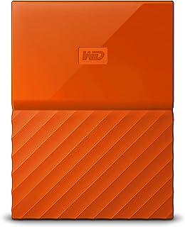 WD My Passport - Disco Duro Portátil de 2 TB y Software de Copia de Seguridad Automática, Naranja