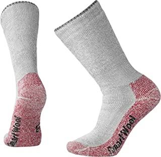 Calcetines de montaña extra pesados para mujer, Otoño-invierno, Mountaineering Extra Heavy Crew, Mujer, color Taupe – Bright Pink, tamaño medium