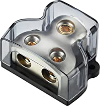 Freajoin 0/2/4 AWG Gauge Power Distribution Block 1/0 Gauge in - 2 x 4 Gauge Out