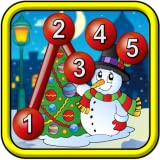 Los niños Navidad conectar los puntos rompecabezas - juego de punto a...