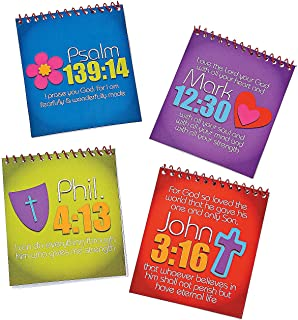Fun Express - Joy for Jesus Spiral Color Pads W/stickr - Stationery - Activity Books - Activity Books - 12 Pieces