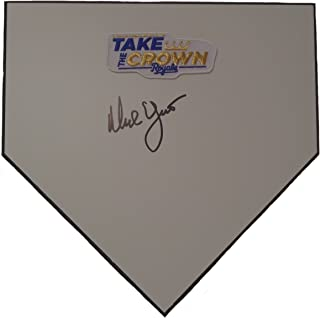 Kansas City Royals Ned Yost Autographed Hand Signed KC Royals Baseball Home Plate Base with Proof Photo of Signing and COA