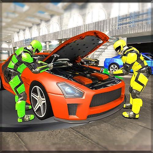 Robot Car Mechanic Workshop Games - Car Games
