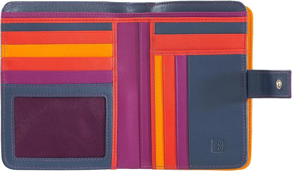Dudu, portafoglio, porta carte di credito per donna, con protezione rfid, multicolore,  in pelle morbida 8031847129960