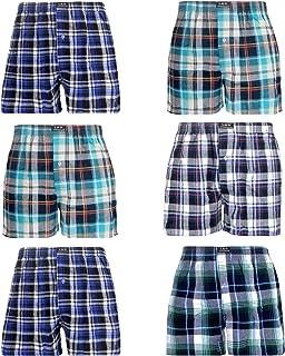 L&K Bóxer para Hombre Pack de 6, Estilo Americano en Diversos Colores con 95% de algodón 1407