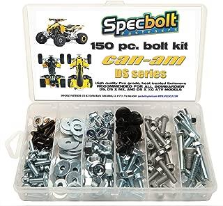 150pc Specbolt CAN AM Bombardier ATV Bolt Kit:DS, Sport, Mud, Recreation, Utility, Renegade, Outlander Max, X, MR Traxter XL XT, Quest, Rally, Sarasota, 50 70 90 175 250 330 400 450 500 650 800 1000