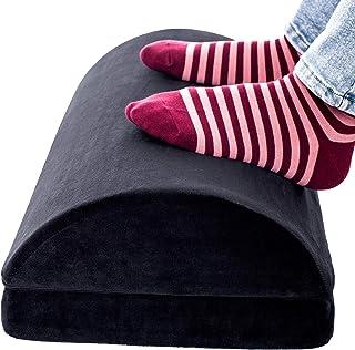 Foot Rest Under Desk, Adjustable Ergonomic Soft Firm Foot Cushion, Premium Velvet Cover, Foot Rest Cushion for Home Desk O...